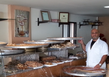 Naji in his bakery, which he has expanded with microfinance loan from IESC USAID